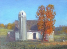 Jack Liberman landscape paintings of Ohio Amish country